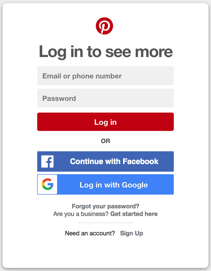 Pinterest login for Fresh home login